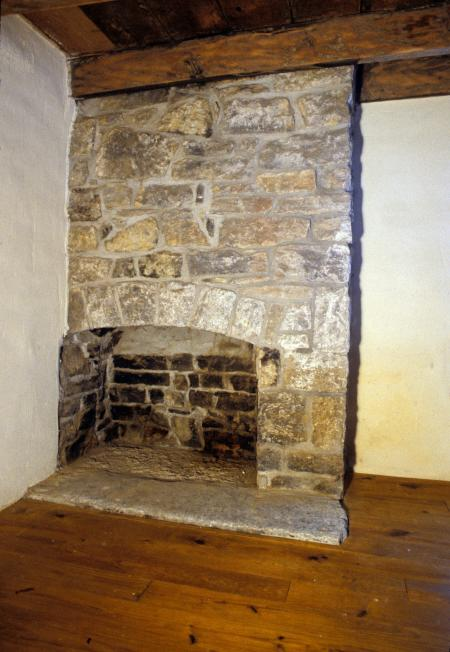 Asahel Wright Corner Fireplace
