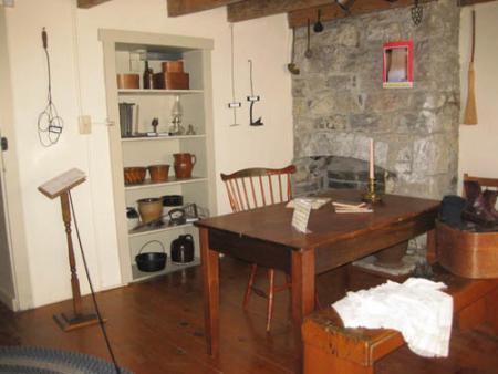 Asahel Wright Corner Fireplace
